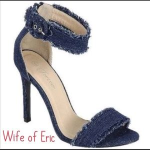 Shoes - Coming Soon!  Denim Sandler's w Ankle Strap